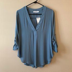 Light blue Lush blouse- never worn